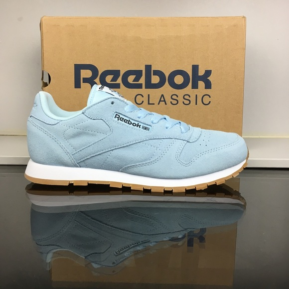 b9f682d40 Reebok Fresh Blue CL Leather Pastel